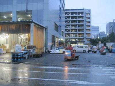 Tsukiji market early morning