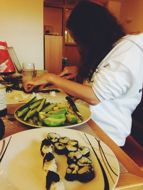 cucumber avocado grasshopper sushi