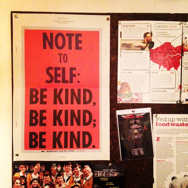 Be kind poster