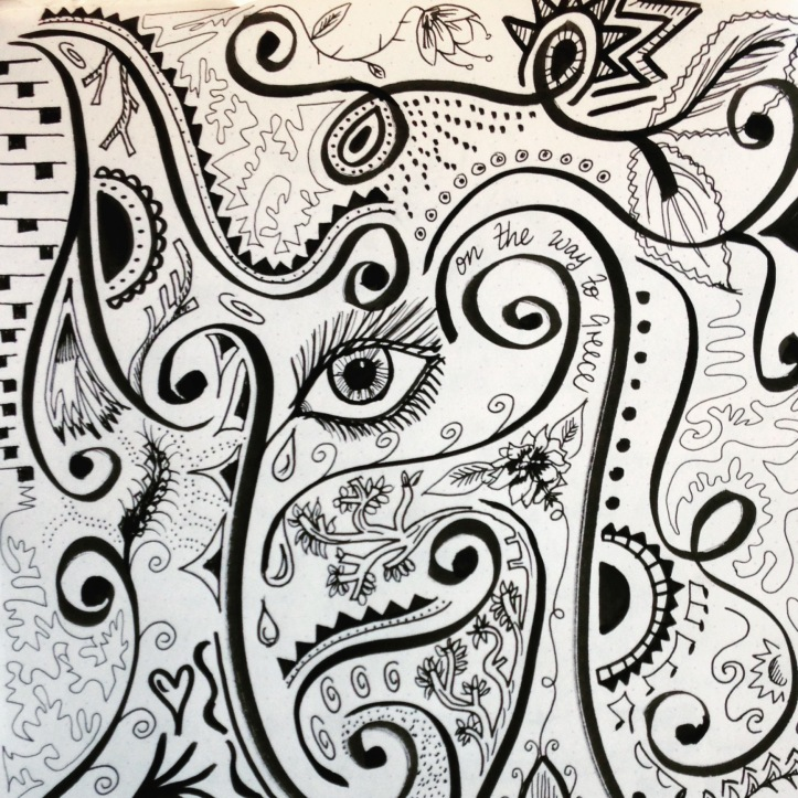 doodle black and white