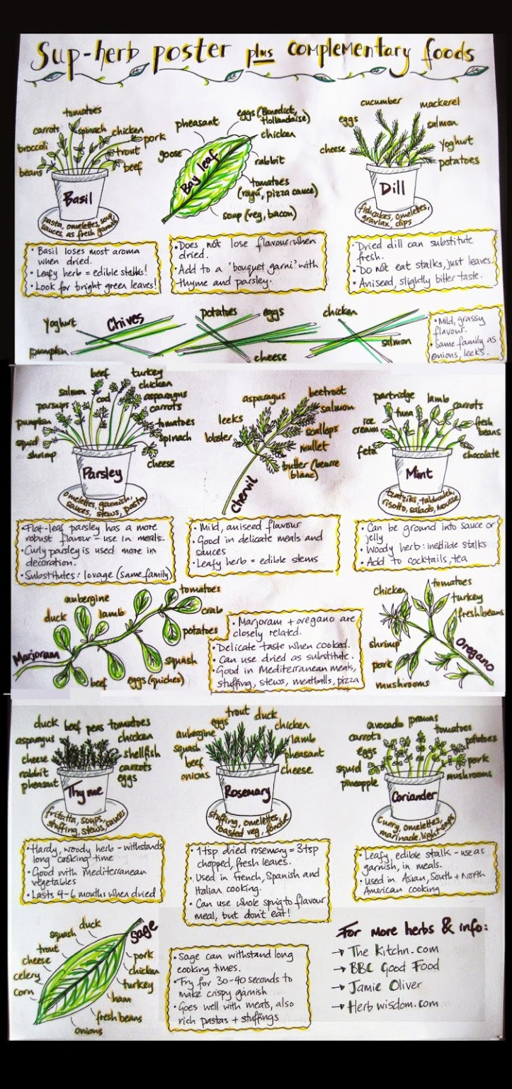 Herbs and complementary foods poster